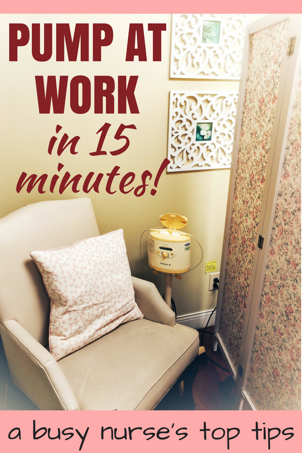Who has time to pump at work? This busy nurse gives her best tips for speedy and efficient pumping... in 15 minutes or less! #breastpump #breastfeeding